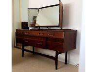 Dressing Table with three mirrors and matching tall chest