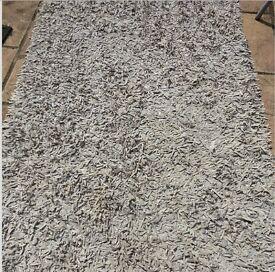 Grey suede rug
