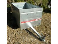 Large galvanised box trailer in nearly new condition