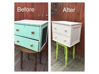 Hand painted unique chest of drawers, bargain free delivery