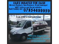 CASH FOR CARS AND VANS!! 🚗🚗🚗!! Mot failures scrap, damaged, runners and non runners also caravans