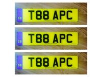 T88APC - SUPERB CHERISHED REGISTRATION PLATE FOR SALE - GREAT PRICE !!!