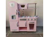 Kids Pink Vintage Solid Wooden Play Kitchen by Kidcraft