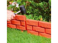 Brick Effect Garden Edging 2 x 4pk - New Rrp £19.98