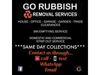 ♻️SAME DAY✅ GO RUBBISH & REMOVALS🚚house Clearance-office-junk-bin-waste collection-skip alternative