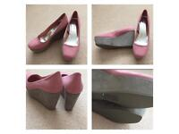 H&M Pink Wedges size 6