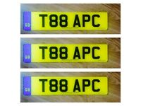 T88APC - Cherished Registration - Personalised Number Plate