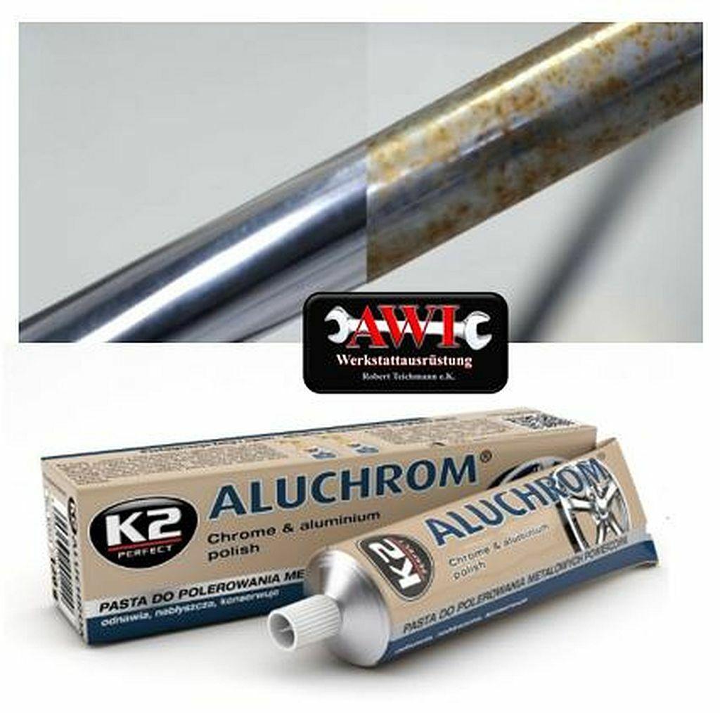 Polierpaste Politur Versiegelung Edelstahl Aluminium Chrom Kupfer K2 Aluchrom