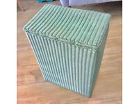 VINTAGE ANTIQUE LLOYD LOOM LAUNDRY BASKET, WEAVE & WOOD, SHABBY CHIC, IDEAL SIZE