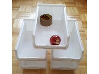 25 x Plastic Storage Bins Linbins TC4 - Boxes Warehouse Parts Tools - For Louvre Panels