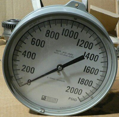 Weksler Pressure Dial Gage 2000 Psi Boiler 1200 Psi Sg8nn2kpwranag 6685010466765