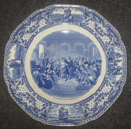 "Crown Ducal Colonial Times 10 1/2"" Plate The Marriage of Pocahontas"