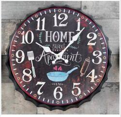 Hoff Interieur 2919 Wall Clock  Home Metal, Form: Bottle Cap, Brown Ø 12 5/8in