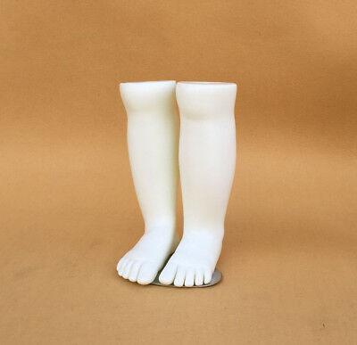 1pair Kids Mannequin Dummy Display Socks Tool Plastic Children Torso Feet White