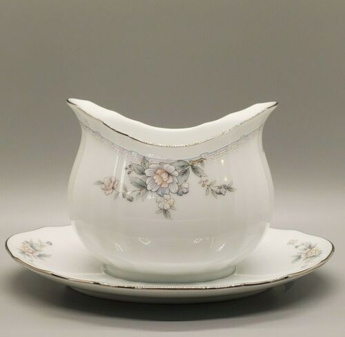 Vintage Noritake Smithfield #3203 Gravy Boat with Attached Underplate Excellent