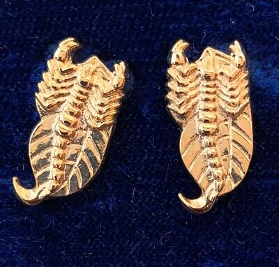 VINTAGE SCORPIO EARRINGS SCORPION CLIP BACK GOLD TONE METAL ASTROLOGY NOS