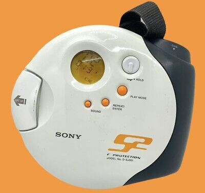 Sony Walkman Sports D-SJ301 Portable CD Player G Protection & Strap Tested Works