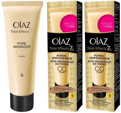 Olay (Olaz) Total Effects 7in1 Pore Minimiser CC Cream Light - Medium (2 x