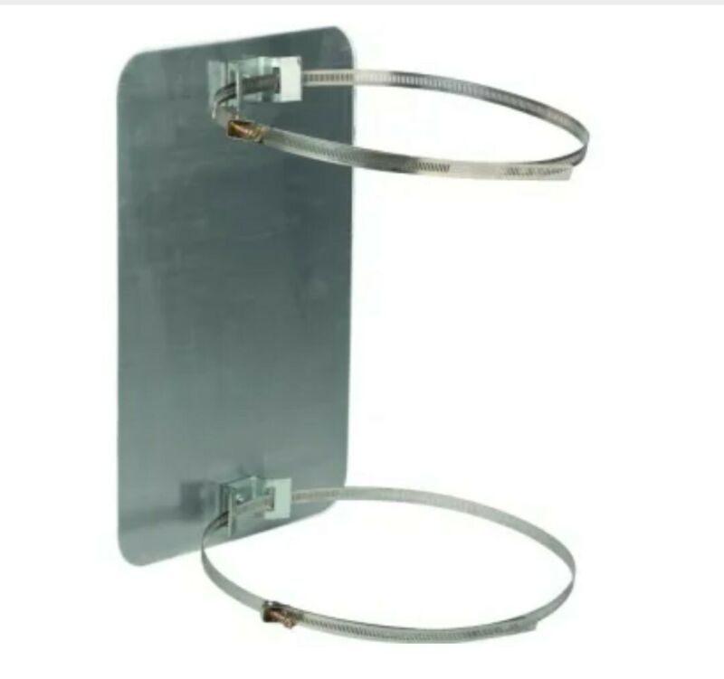 """Sign Mounting Bands and Bracket For 4""""-12"""" Dia Posts, Fully Adjustable (1 pair)"""