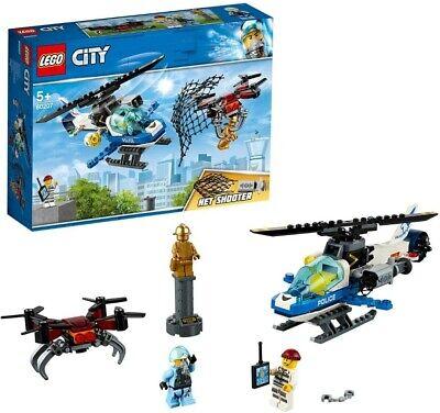 LEGO CITY POLIZIA AEREA ALL'INSEGUIMENTO DEL DRONE CON LANCIA RETI 5 ANNI IN SU