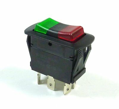 Nte On-off Rocker Toggle Switch Waterproof Spdt 21a 14vdc Illuminated Led