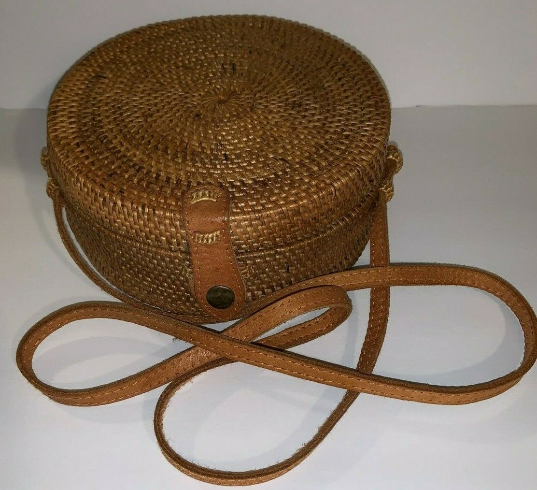 rattan bags handmade wicker woven circle bali