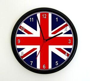 UNION JACK PHOTO WALL CLOCK  -  9 inch Photo Clock - UK Great Britain England