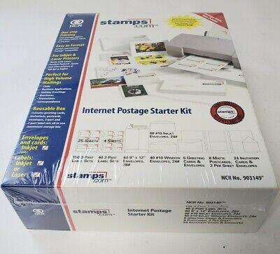 Stamps.com Internet Postage Starter Business Variety Kit Envelopes New Sealed