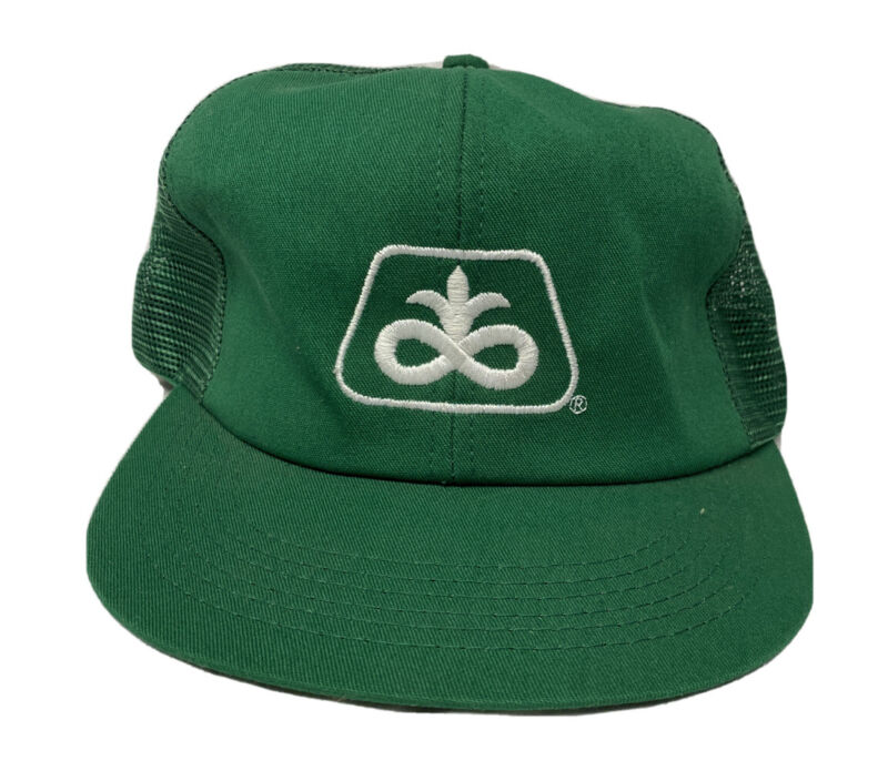 VINTAGE Pioneer Brand Farmer Trucker Mesh SnapBack Hat K-Products