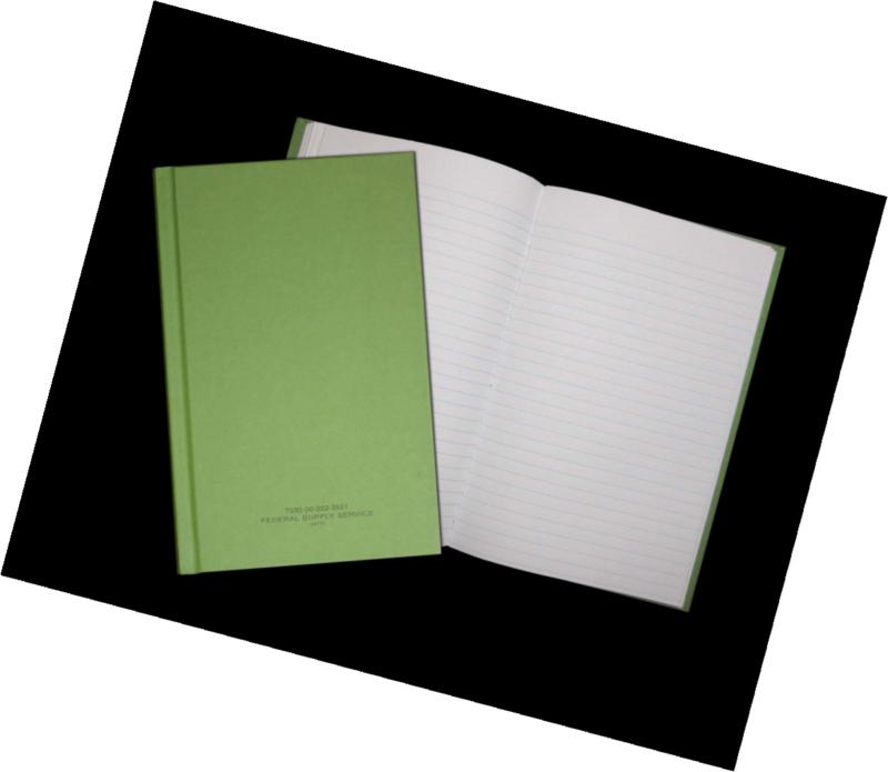 Green Military Log Book Record Book Memorandum Book 5-1//2X8 Durable Cover N87
