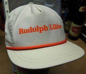 rudolph libbe baseball hat construction logo ohio cap