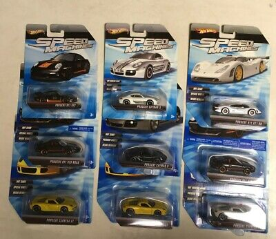 Hot Wheels Speed Machines Porsche Ultimate Lot of 9 Different!