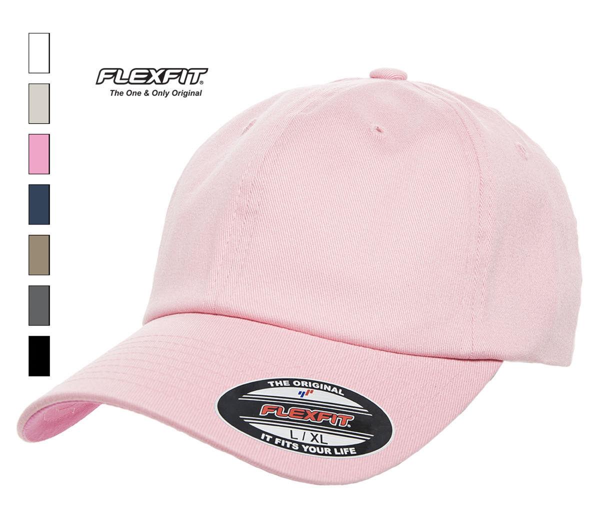 b386552d3ed Flexfit Cotton Twill Dad low profile Cap blank hat baseball 7 colors ...