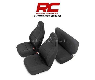 2003-2006 Jeep TJ LJ Wrangler Rough Country Neoprene Seat Covers - BLACK [91001]