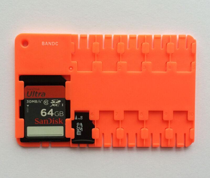 Red Micro SD/SDHC/SDXC Card Storage holder case