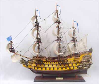 Soleil Yoyal Handcrafted Wooden Tall Ship Model