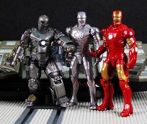Kaiyodo-Capsule-Q-Figure-IRON-MAN-Mark-1-2-3-Set-Japan-Marvel-A601toA603