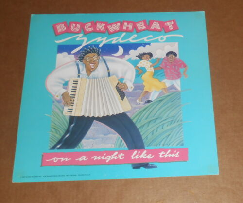 Buckwheat Zydeco Poster 2-Sided Flat Square 1987 Promo 12x12 RARE