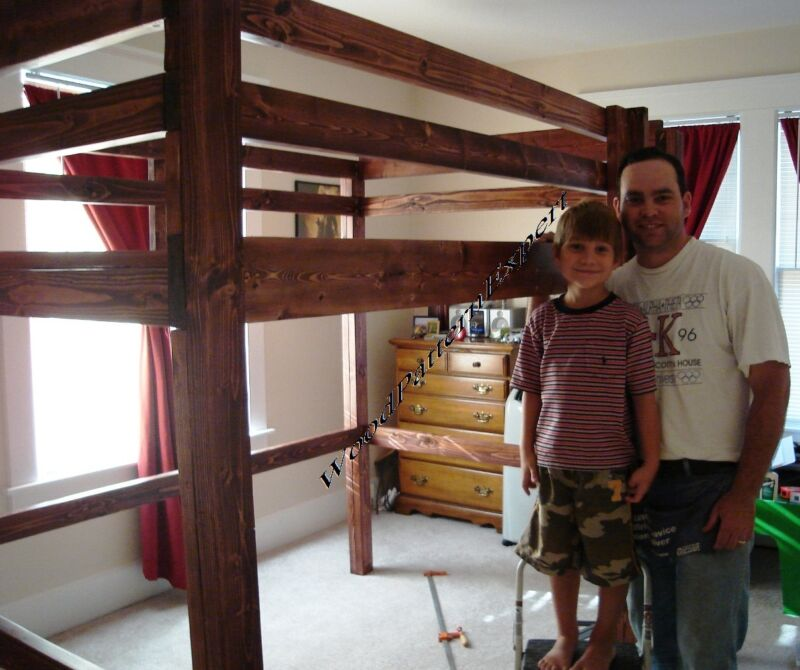 LOFT BUNK BED Paper Patterns BUILD KING QUEEN FULL AND TWIN SIZES Easy DIY Plans