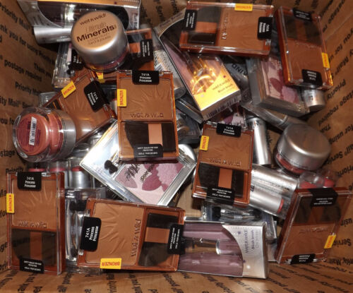 100 x Wet n Wild MIXED Makeup COSMETICS - BLUSH Eyeshadow BRONZER Wholesale Lot