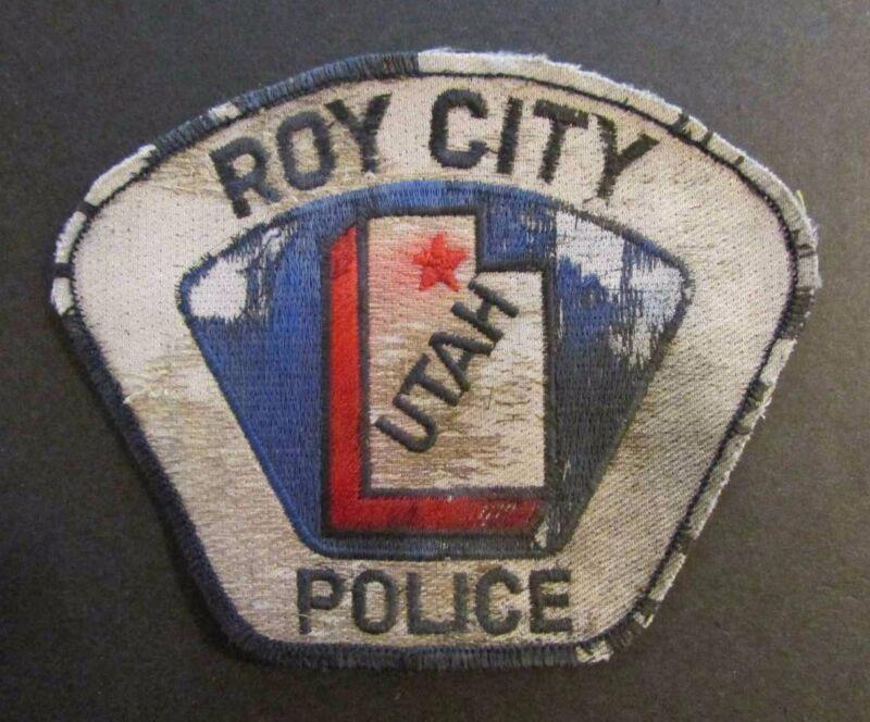 VINTAGE POLICE PATCH / ROY CITY POLICE / UTAH / RARE