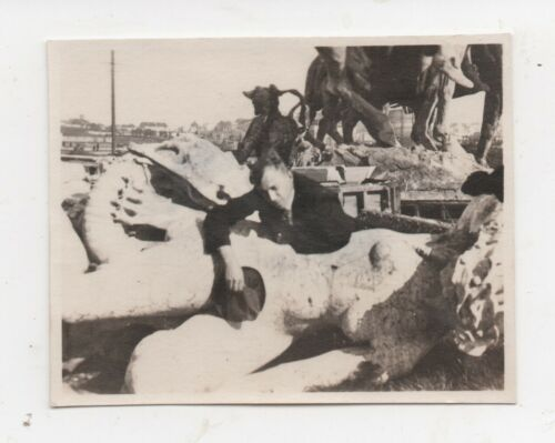 1915 PPIE Photo of fallen Statues after the Fair