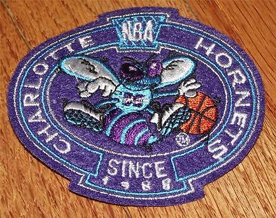 NEW Charlotte Hornets Crest Logo Polo Sized Embroidered Patch 3