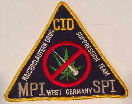 West Germany Kaiserslautern Drug Suppression Team Patch *Original to Time Period