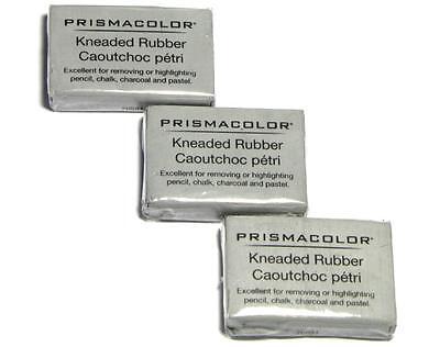 Prismacolor Kneaded Rubber Art Eraser - Pencil Pastel - Large - 3 PC 70531 - Pencil Eraser