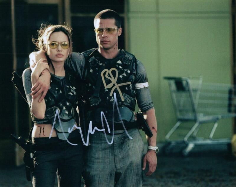 Brad Pitt Angelina Jolie signed 8x10 Photo and COA autographed Picture very nice