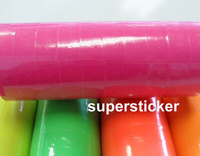 Pink Price Tags For Mx-6600 2 Lines Gun 1 Tube X 13 Rolls X 500