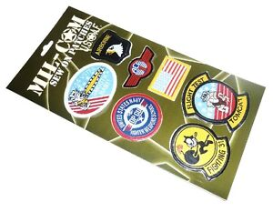 AIR FORCE SEW ON CLOTH PATCHES TOP GUN US PILOT BADGES