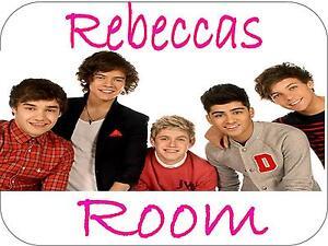 One Direction Door Sign Plaque Bedroom Door Sign 150mm x 100mm