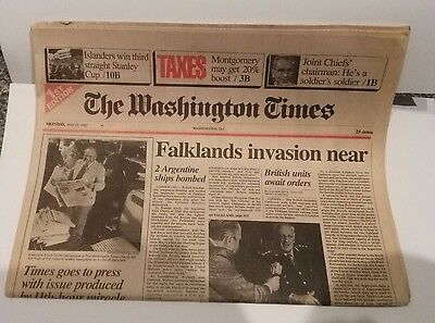 Washington Times First Edition May 17  1972 Mint Condition Shipped Flat